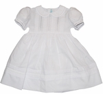 Girls Christening Dress Pintucking and French Lace
