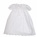 Girls Christening Gown Simple Eyelet Baby Baptism 9 months