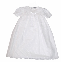 Girls Christening Gown Simple Eyelet Baby Baptism