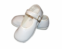Girls Christening Shoes Faux Patent Leather Baptism Mary Janes