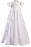 Girls Christening Gown 100% Cotton Smocked