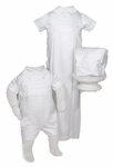 Boys Christening Gowns Convertible 100% Cotton Classic Baptism Outfit