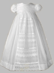 Girls Christening Gown Cotton & Lace