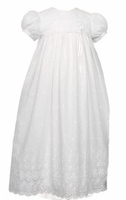 Christening Gown Eyelet Simple Laura Ashley