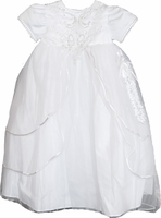 Christening Gown Fancy Organza Pearls