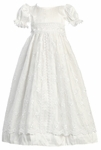 Girls Christening Gown Vintage Silk & Lace Christine