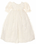 Christening Gown Girls Silk & Lace Vintage Heirloom Day Gown