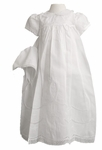 A Girls Christening Gown Smocked Traditional Set