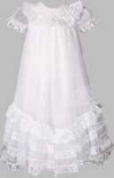 Girls Christening Gown Ruffles and Lace