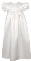 Girls Christening Gown Satin Simple