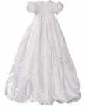 Girls Christening Gown Silk Princess pick-ups