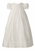 Christening Gown Silk Smocked Lattice Laura Ashley