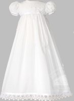 Girls Christening Gown Simple Lux