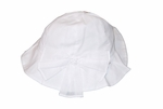Girls Christening Hat White Fancy Baptism Sun Hat