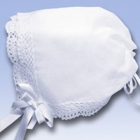 Girls Christening Bonnet to Crochet Hankie