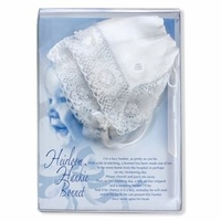 Girls Christening Bonnet to Linen Hankie