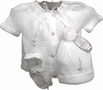Girls Christening Outfit Heirloom Fine Knit Baby Newborn Set
