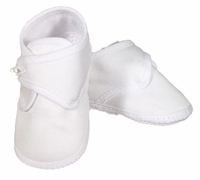Boys Christening Shoes Baby Cotton Infant Button Bootie