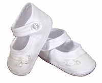 Girls Christening Shoes Baby White Infant Cotton Mary-Janes