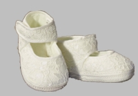 Girls Christening Shoes Baby Ivory Infant Lace Booties