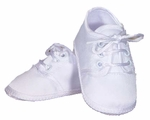 Boys Christening Shoes Baby White Satin Newborn Size