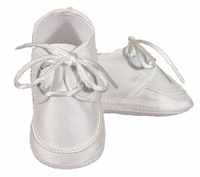 Boys Christening Shoes Baby Silk Infant Lace Oxford Bootie