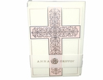 Christening Invitiation Cross Die-Cut Pink