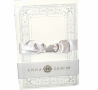 Christening Invitiation Off-White Silver Glitter