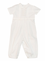 Boys Christening Outfit Classic Ivory Longalls  Newborn or 3 months