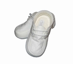 Boys Christening Shoes Ivory Oxford Linen Baptism size 1