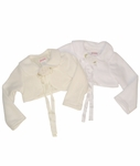 Christening Jacket Fancy Fleece Bolero
