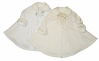 Christening Jacket Fancy Fleece Coat