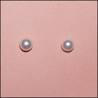 Christening Jewelry Earrings Pearl Dots