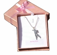 Christening Jewelry Necklace Silver Charms