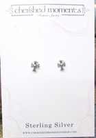 Christening Jewelry Earrings Fancy Cross