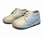Boys Christening Shoes Dressy Ivory Leather size 6