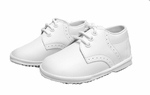 Boys Christening Shoes Dressy White Leather Baptism Shoe