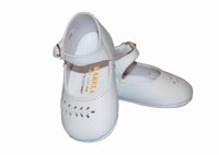 Girls Christening Shoes Baby White Leather Baptism Crib Shoe