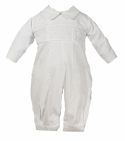 Boys Christening Outfits Longall 100% Cotton Baptism Coverall Set
