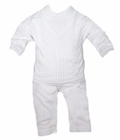 Boys Christening Outfits Longall Cotton Fine Knit Baptism Set