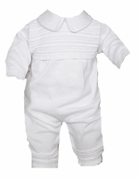 A Boys Christening Outfits Longall Cotton Knit Baptism Set