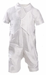 Boys Christening Outfits Fine Silk Longall Vested Baptism Coverall Set