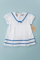 Girls Christening Dress Baby Sailor Style