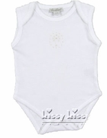 Unisex Christening Bodysuit Onesie Cotton Heirloom Cross Details