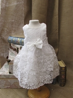 Girls Christening Organza and Tulle Toddler Dress 3T or 4T