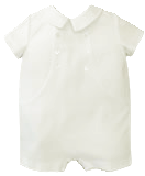 Boys Christening Outfit Ivory Romper Shortall 3 months