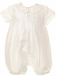 Christening Outfit Boys Silk Romper Euro Bubble