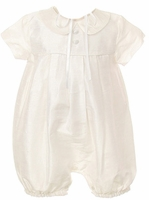A Christening Outfit Boys Silk Romper Euro Bubble