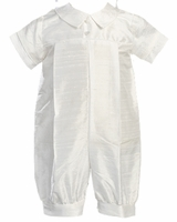 A Boys Christening Outfit Silk Shortalls Simple Romper Conner