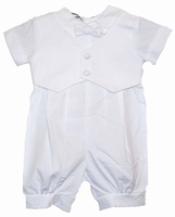 Boys Christening Outfit White Cotton Knickers Set Tyler